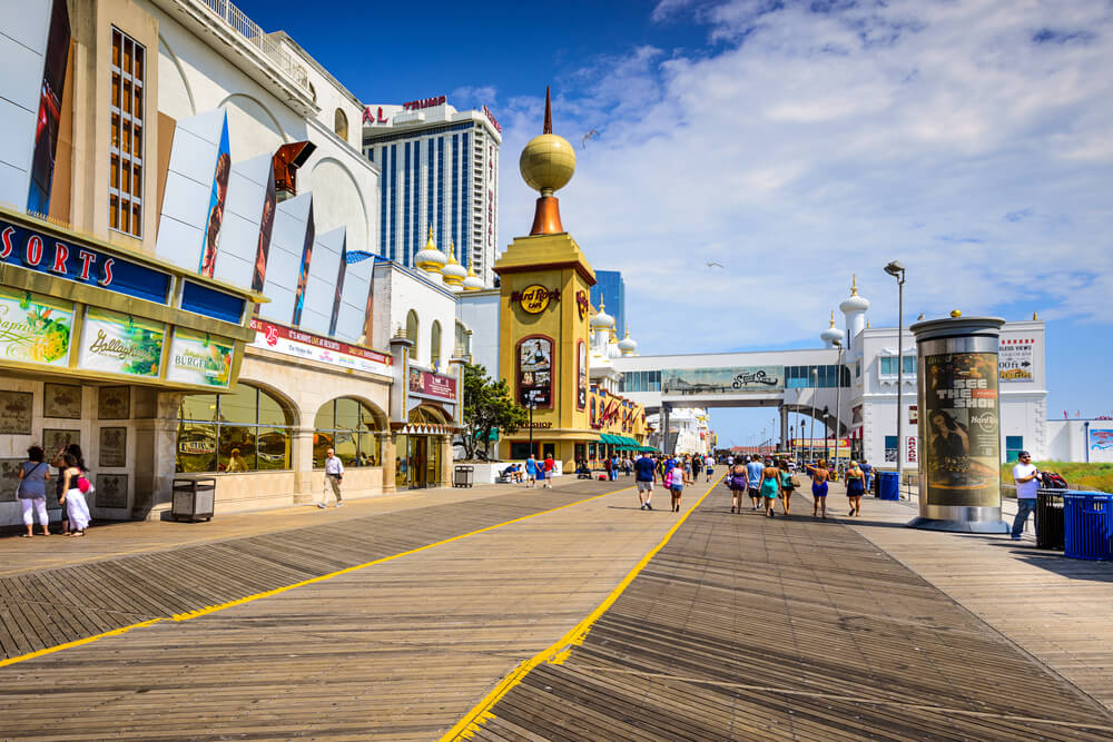 Boardwalk en Atlantic City.