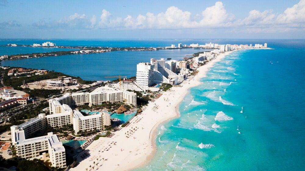 Vista de Cancún