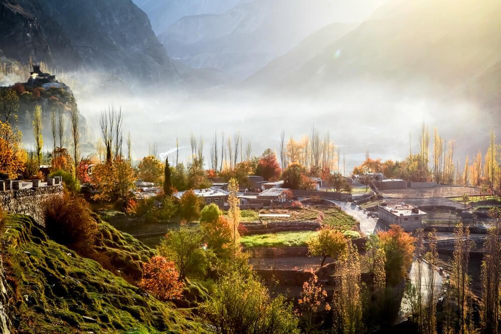 Casas en el valle de Hunza