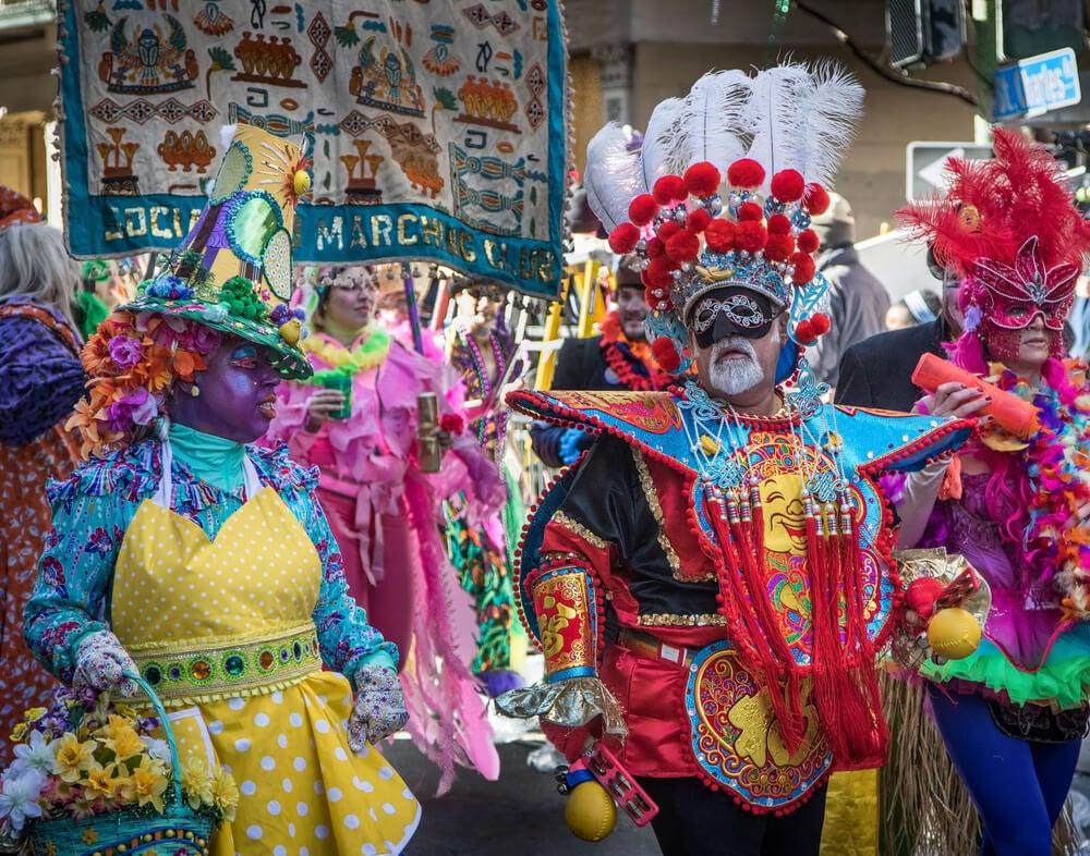 Comparsa del carnaval de Nueva Orleans