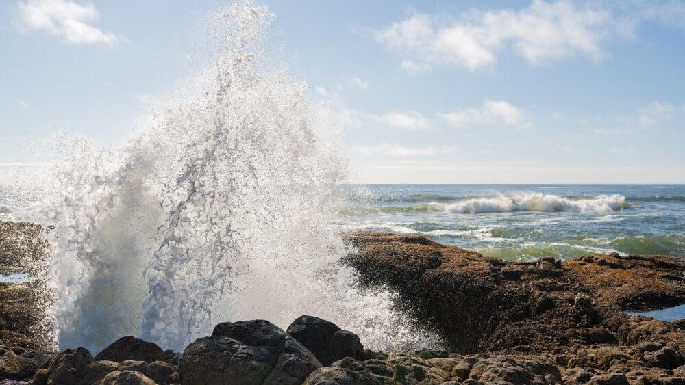 Erupción de agua