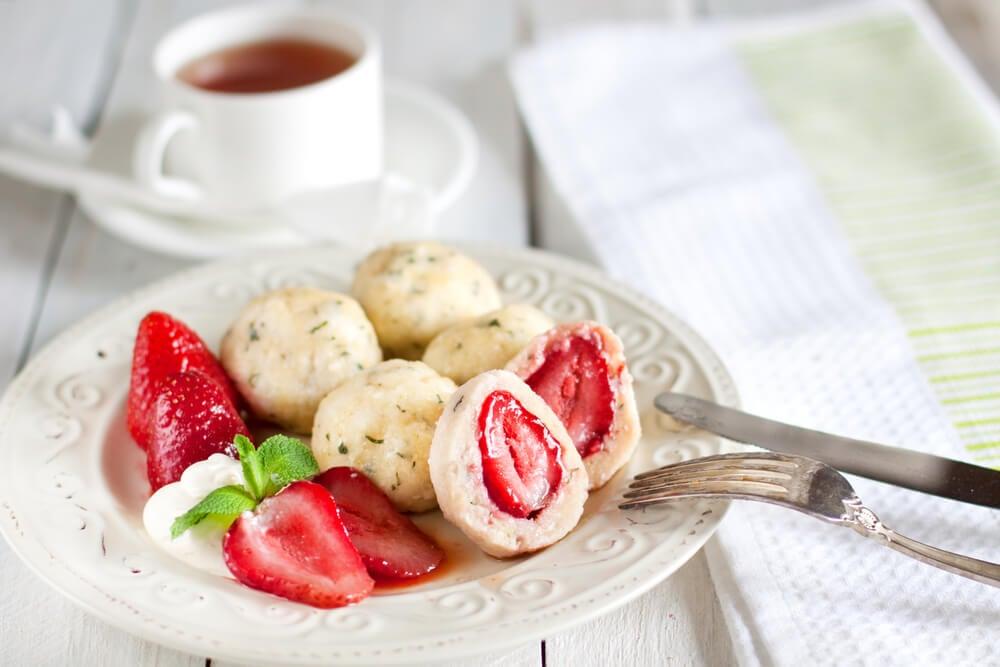 Plato de knedliky dulce