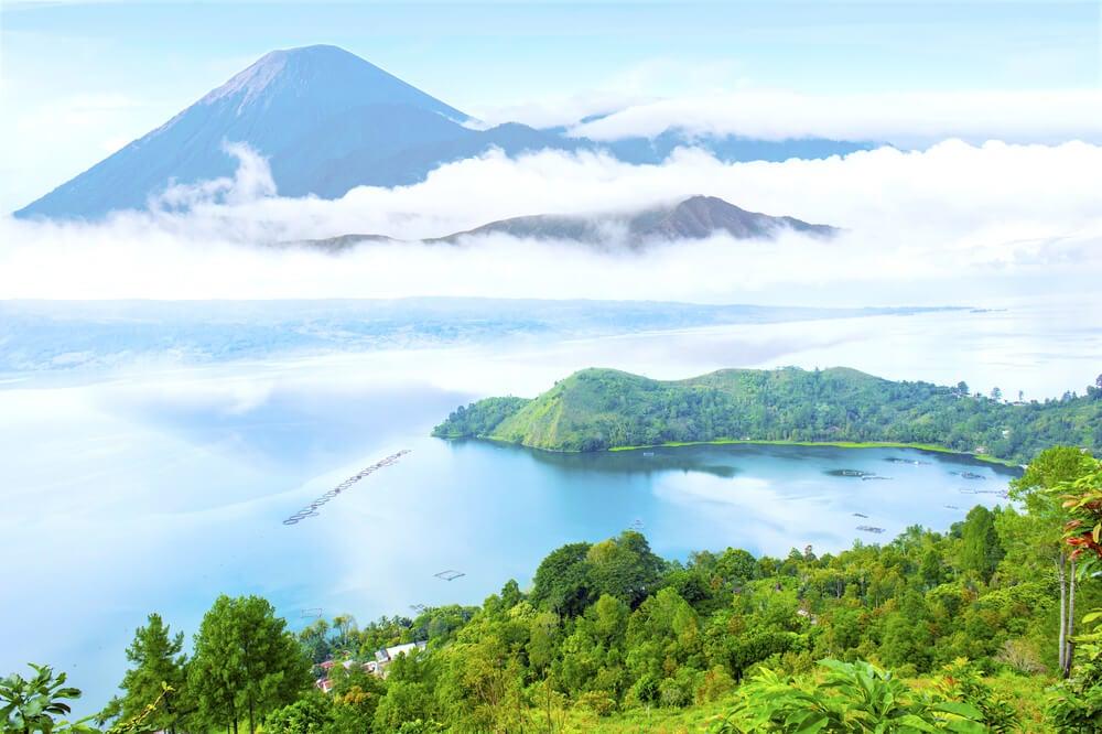 Lago Toba en Sumatra