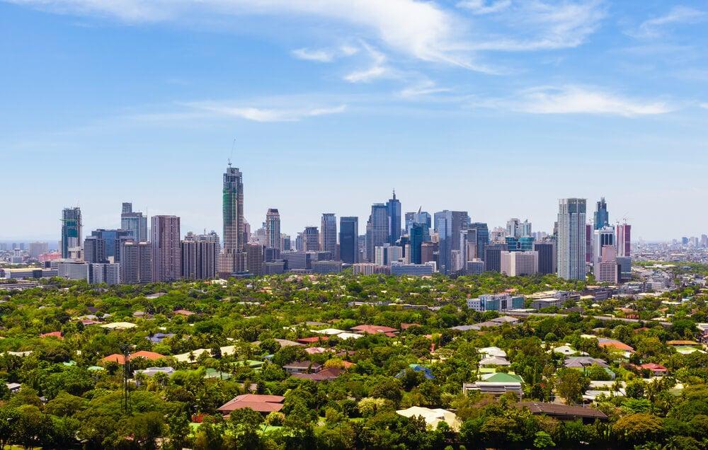 Vista del distrito de Makati