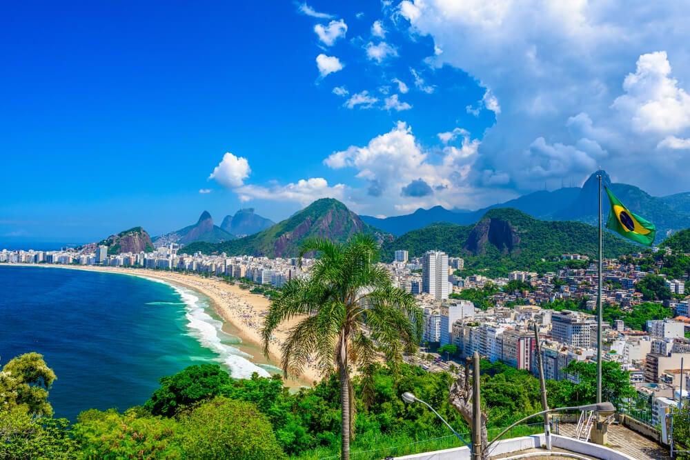 Playa de Copacabana en la ciudad maravillosa