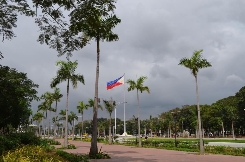 Vista del Roxas Boulevard en Manila
