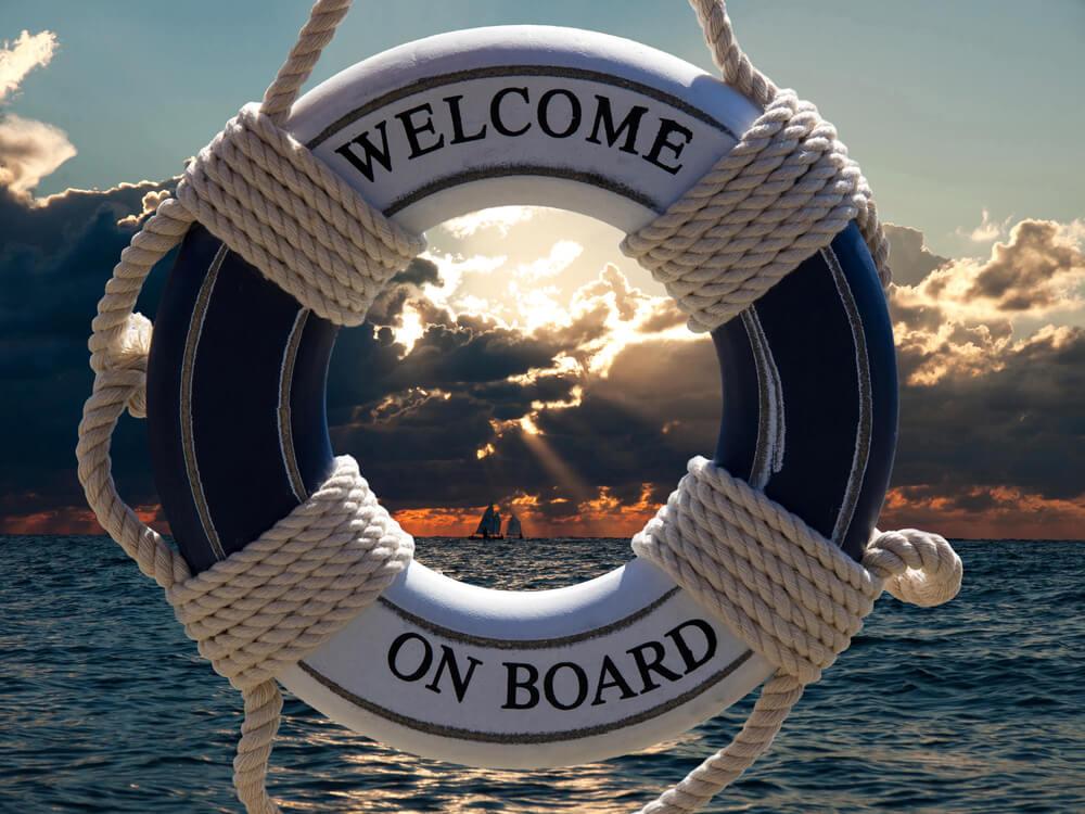 Salvavidas en un crucero