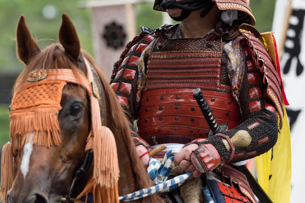 Samurai en el festival Soma Nomaoi