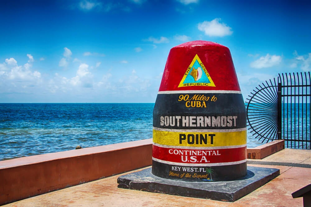 Señal en Southernmost Point
