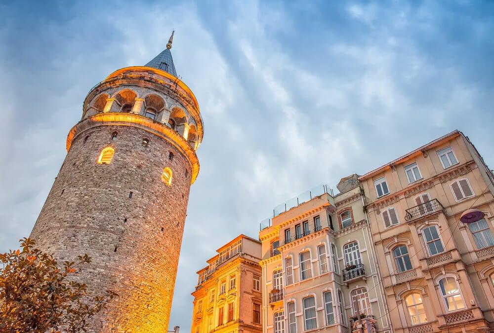 Torre Gálata al atardecer