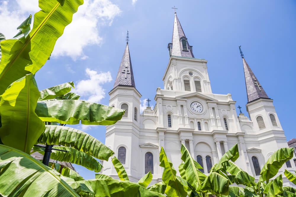 Fachada de la catedral de San Luis de Nueva Orleans