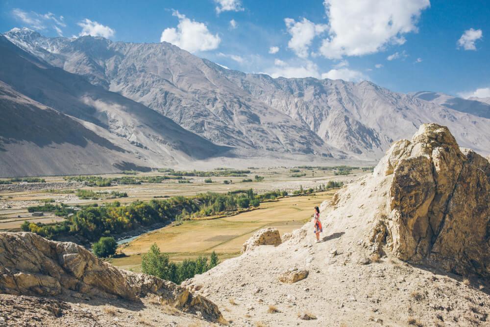 Vista del valle de Wakhan