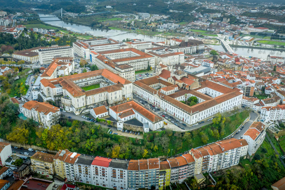 Vista aérea de la Universidad de Coímbra