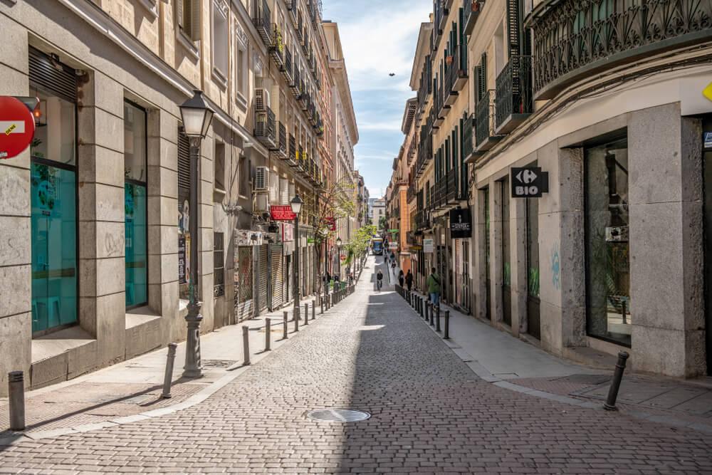 Calle del barrio de Malasaña en Madrid