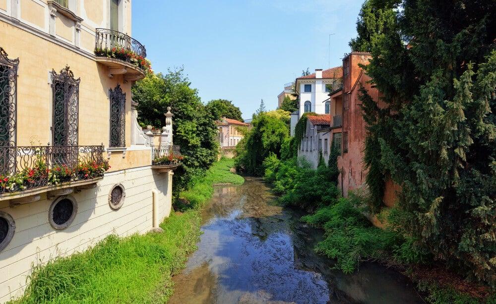 Edificios del jardín en Padua.