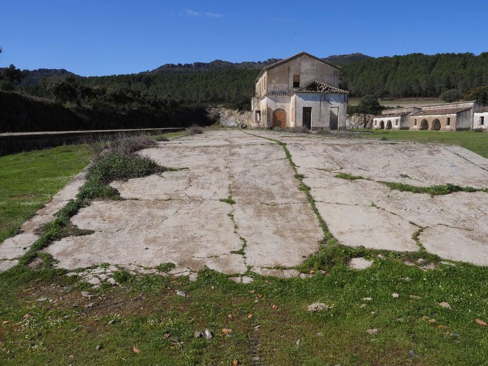 Estación de Santa Quiteria en la Vía Verde de la Jara