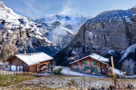 Gimmelwald en invierno