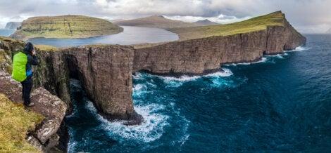 Lago Litisvatn en islas Feroe
