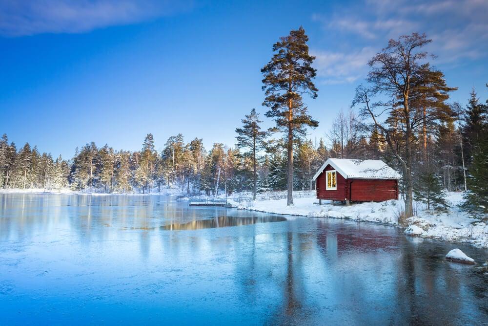 Paisaje de la Laponia sueca