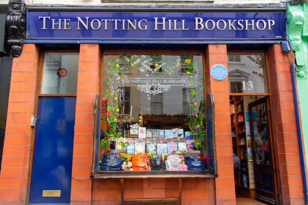 Libería de Nottin Hill, uno de los escenarios de películas para visitar Londres