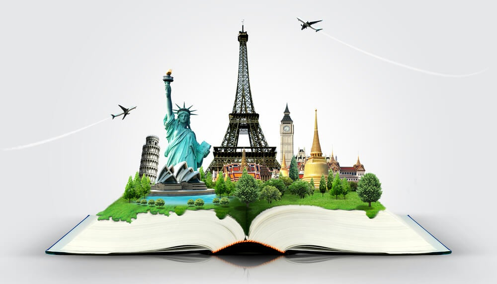 Libro de viajes para uno de los juegos para viajar