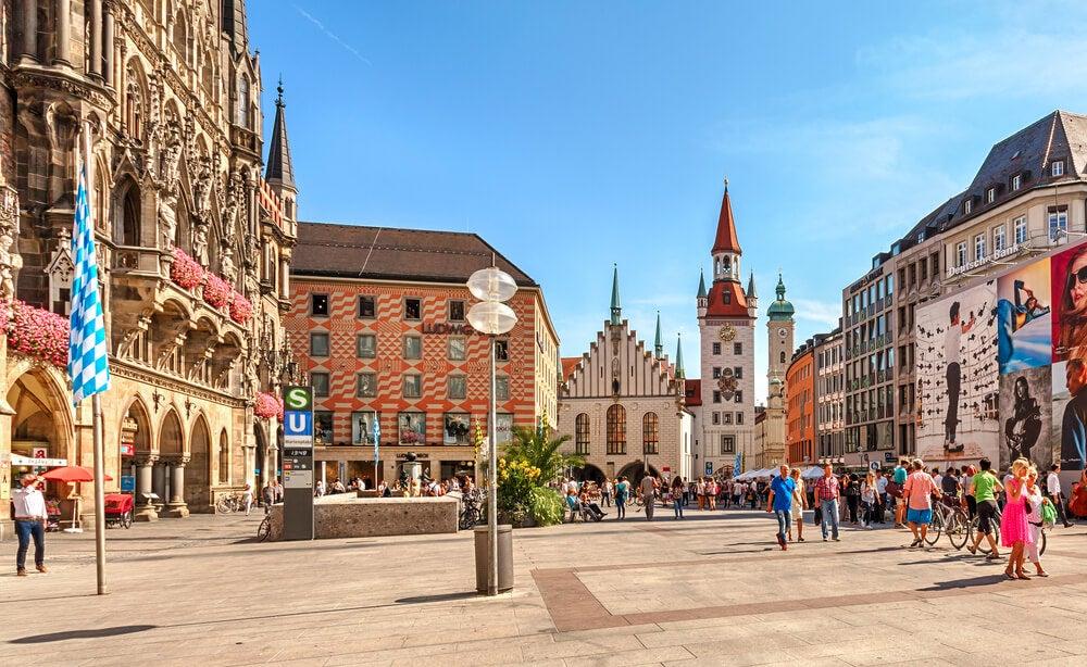 Vista de la Mariemplatz