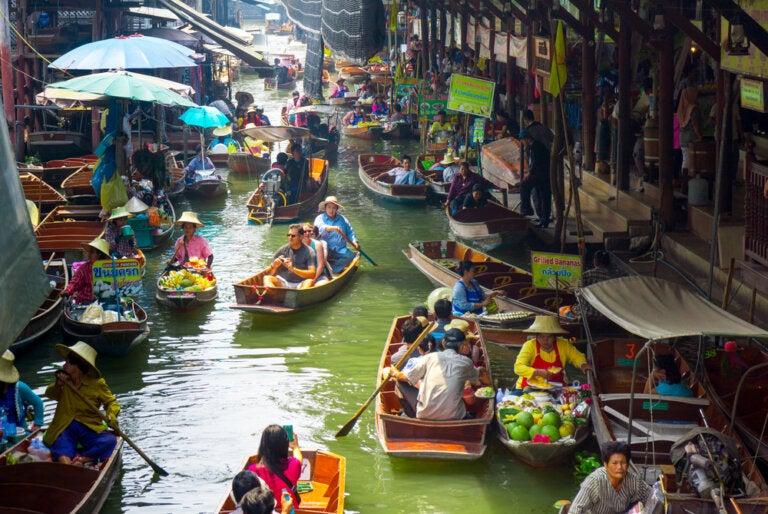 Los mejores mercados flotantes de Tailandia