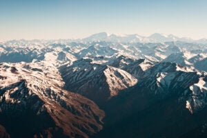 Vista aérea de los Andes