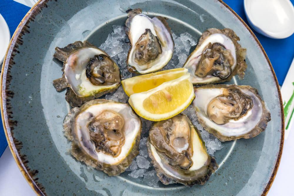 Plato de ostras