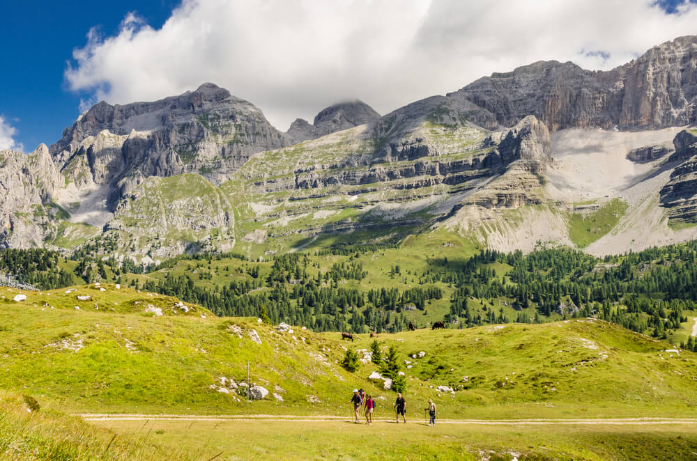 Paisaje de los Dolomitas