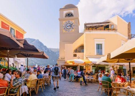 Vista de la Piazzeta de Capri
