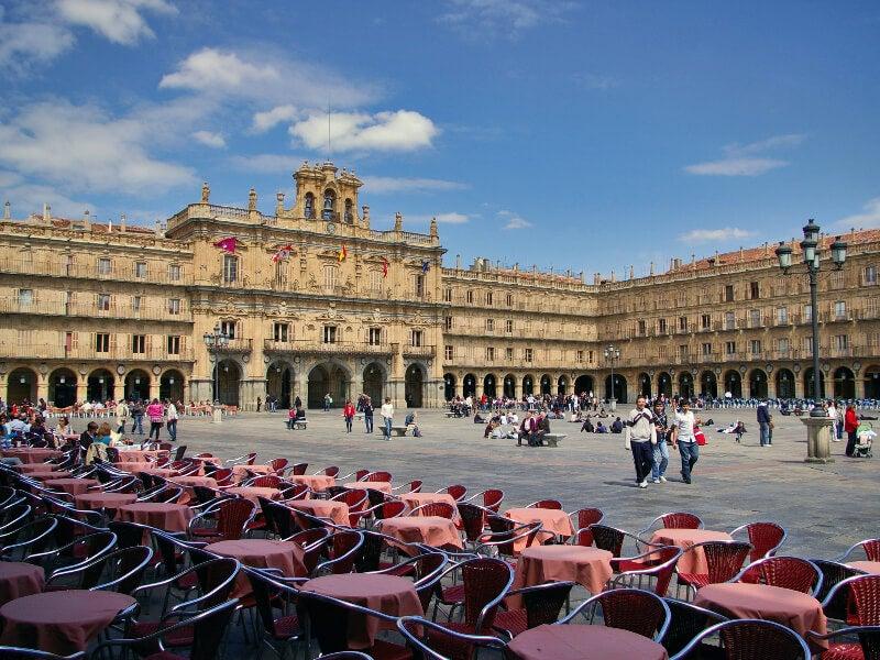 Plaza Mayor de la ciudad de Salamanca.