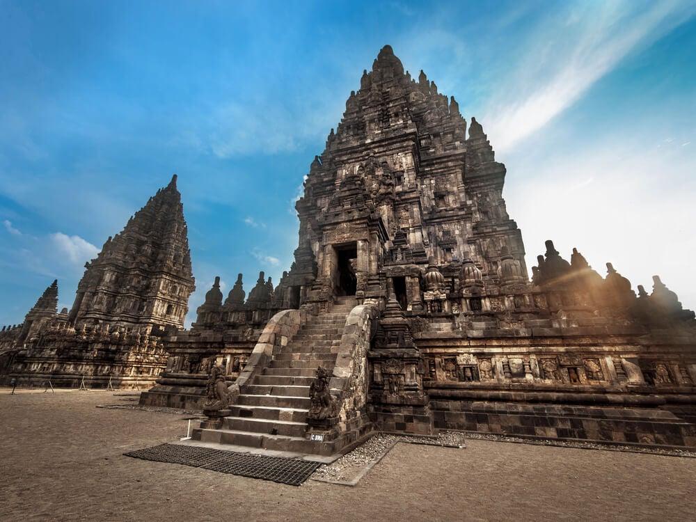Uno de los templos de Prambanan