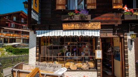 The honesty shop en Gimmelwald