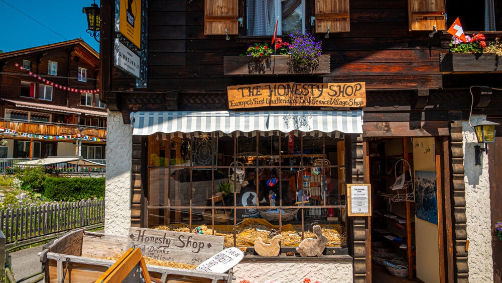 The honesty shop en Gimmelwald