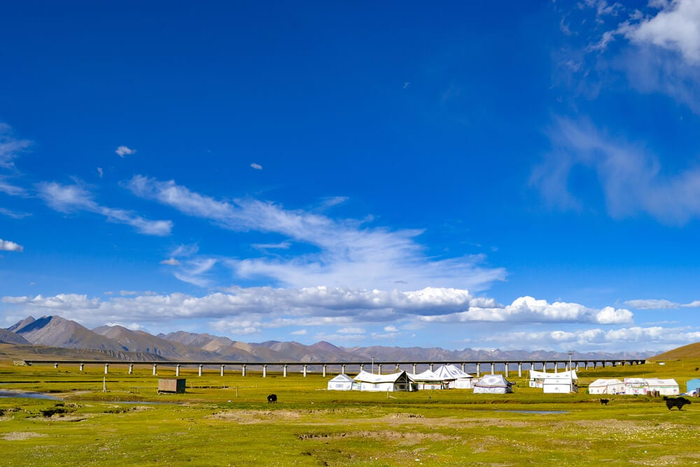 Tren en el Tíbet