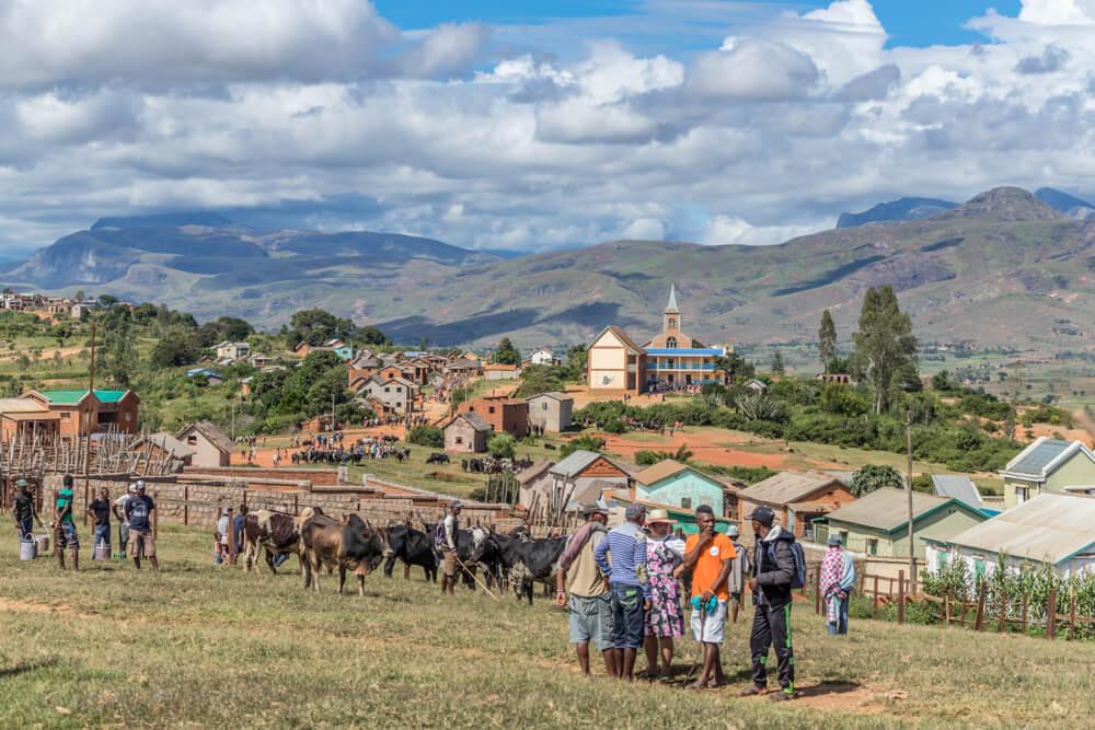 Poblado de Ambalavao, en Madagascar.