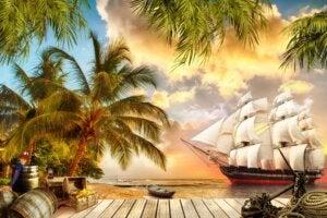 Barco de los viajes de Simbad el marino.
