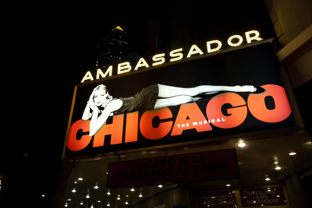 Cartel del musical Chicago.