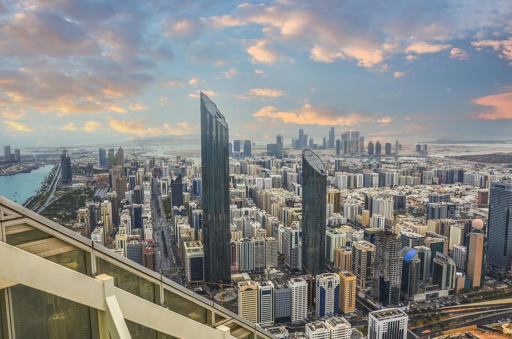 Panorámica del centro de Abu Dhabi.