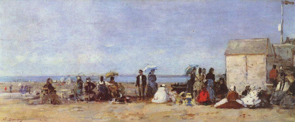 Pintura de la playa de Trouville
