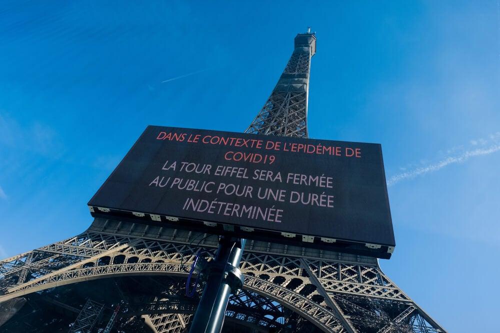La Torre Eiffel, cerrada por el coronavirus.