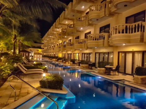Hotel de lujo en la Isla Boracay.