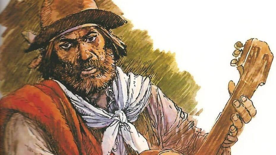 Ilustración del Martín Fierro, el personaje de José Hernández.