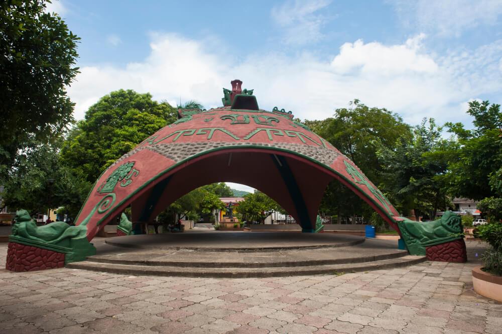 Kiosko indígena ubicado en Costa Rica.