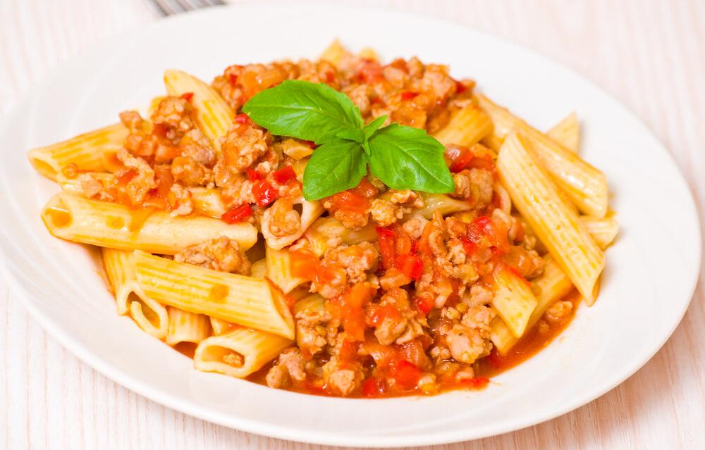 Pasta italiana bolonesa