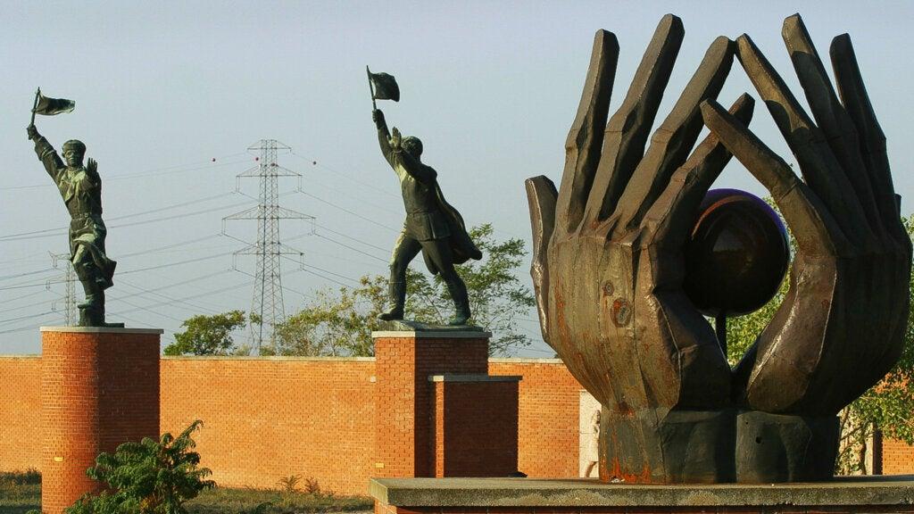 El Parque de la Memoria, ubicado en Budapest, Hungría.
