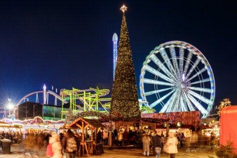 Celebración de Navidad en Hyde Park, Londres.