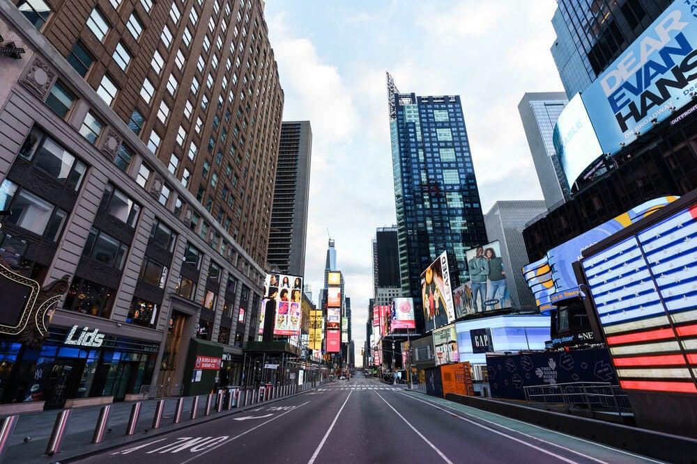 Nueva York desierta para evitar el contagio por coronavirus.