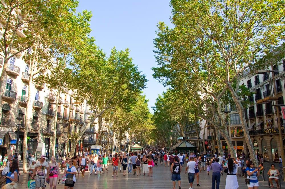 Vista de las Ramblas de Barcelona